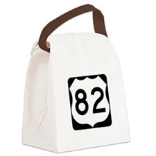 US Route 82 Canvas Lunch Bag