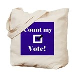 Count my vote (red/blue) Tote Bag