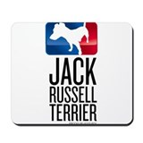 Jack russell art Mouse Pads
