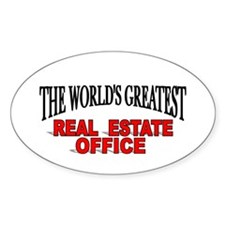 """The World's Greatest Real Estate Office"" Decal"