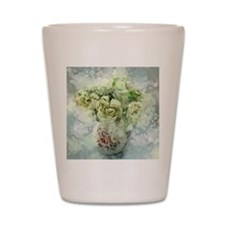 french country flowers Shot Glass