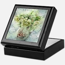 french country flowers Keepsake Box