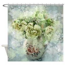 french country flowers Shower Curtain