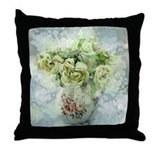 french country flowers Throw Pillow