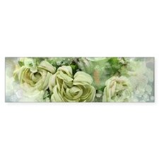 french country flowers Bumper Bumper Sticker