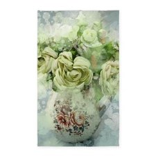 french country flowers Area Rug