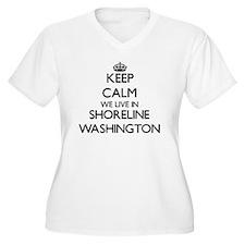 Keep calm we live in Shoreline W Plus Size T-Shirt