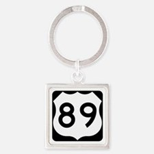 US Route 89 Square Keychain