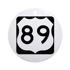US Route 89 Ornament (Round)
