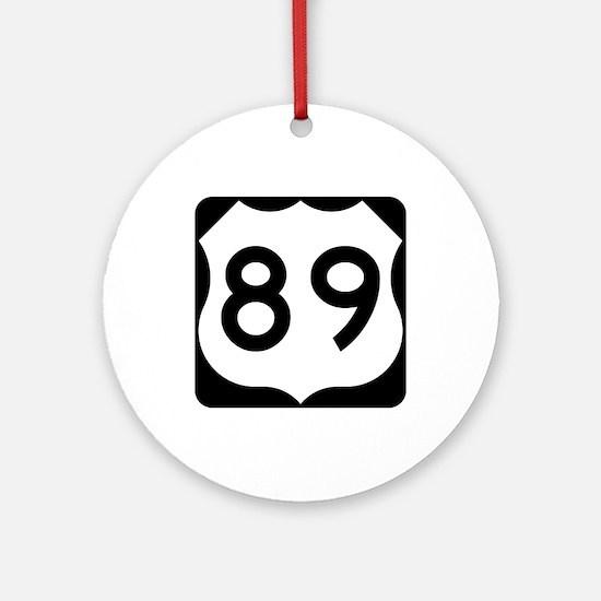 US Route 89 Ornament (Round)