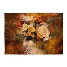 french country flowers 5'x7'Area Rug