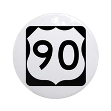US Route 90 Ornament (Round)