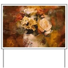 french country flowers Yard Sign