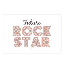 Pink Brown Future Rock Star Postcards (Package of