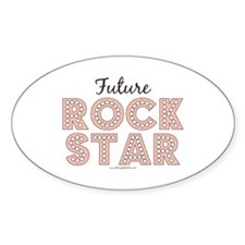 Pink Brown Future Rock Star Oval Decal