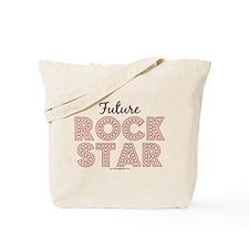 Pink Brown Future Rock Star Tote Bag