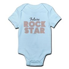 Pink Brown Future Rock Star Infant Bodysuit