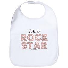 Pink Brown Future Rock Star Bib