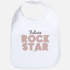 Pink Brown Future Rock Star Bib