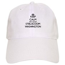 Keep calm we live in Steilacoom Washington Baseball Cap