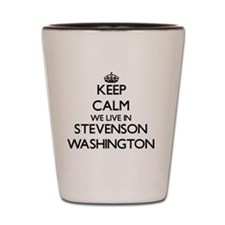 Keep calm we live in Stevenson Washingt Shot Glass