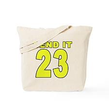 Number 23 Soccer Tote Bag