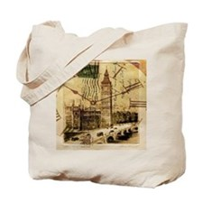 vintage london big ben Tote Bag