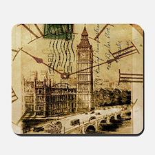 vintage london big ben Mousepad