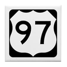 US Route 97 Tile Coaster