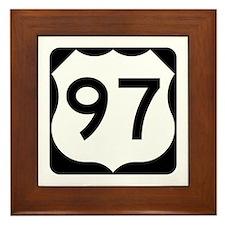 US Route 97 Framed Tile