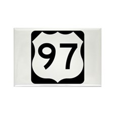 US Route 97 Rectangle Magnet