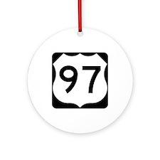 US Route 97 Ornament (Round)