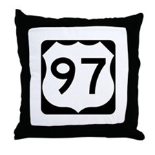 US Route 97 Throw Pillow