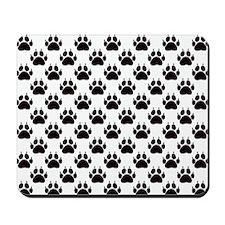 Cat Paw Prints Mousepad