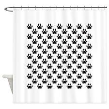 Cat Paw Prints Shower Curtain