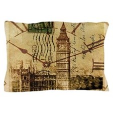 vintage london big ben Pillow Case