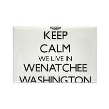 Keep calm we live in Wenatchee Washington Magnets