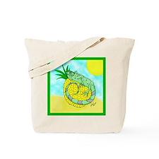 Iguana and Pineapple Tote Bag