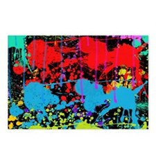 Paint Splatter Postcards (Package of 8)