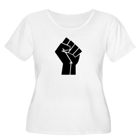 Black Power Women's Plus Size Scoop Neck T-Shirt