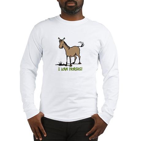 I love horses cute Long Sleeve T-Shirt
