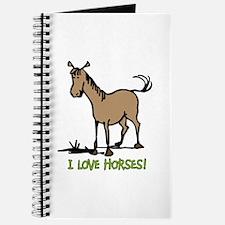 I love horses cute Journal
