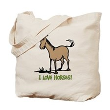 I love horses cute Tote Bag