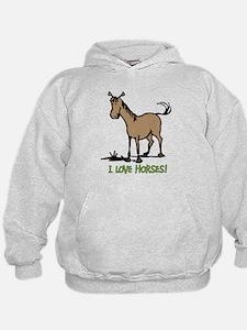 I love horses cute Hoodie