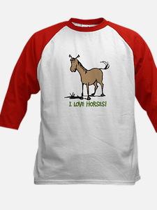I love horses cute Kids Baseball Jersey