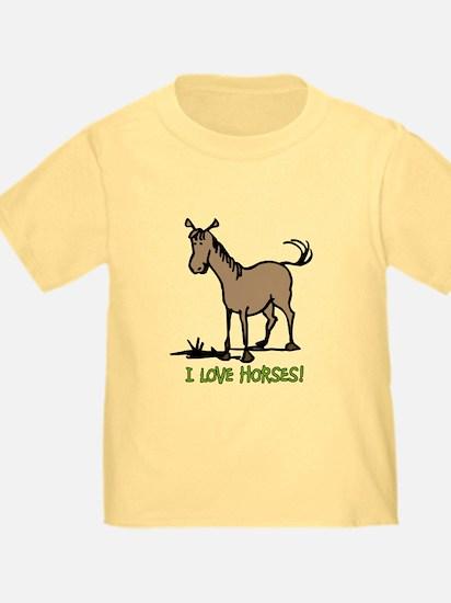I love horses cute T