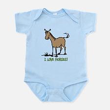 I love horses cute Infant Bodysuit