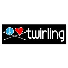 Peace Love Twirling Bumper Bumper Sticker