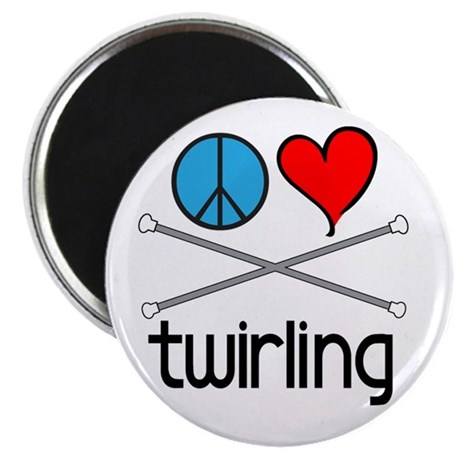 "Peace Love Twirling 2.25"" Magnet (10 pack)"