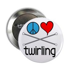 Peace Love Twirling Button
